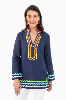 Sail to Sable Rainbow Long Sleeve Tunic Top