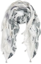 Women's Caslon Shoreline Stamp Wrap Scarf