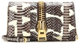 Tom Ford Small Zip Front Snakeskin Shoulder Bag