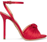 Charlotte Olympia Broadway Polka Dot-embroidered Satin Sandals - IT41
