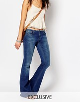 Northmore Denim Flare Jeans With Raw Waistband