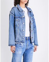 KENDALL + KYLIE KENDALL & KYLIE Reconstruted denim jacket