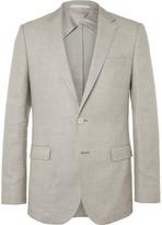 HUGO BOSS Brown Nobis Wool and Linen-Blend Blazer