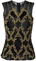 Balmain sequin embroidered top