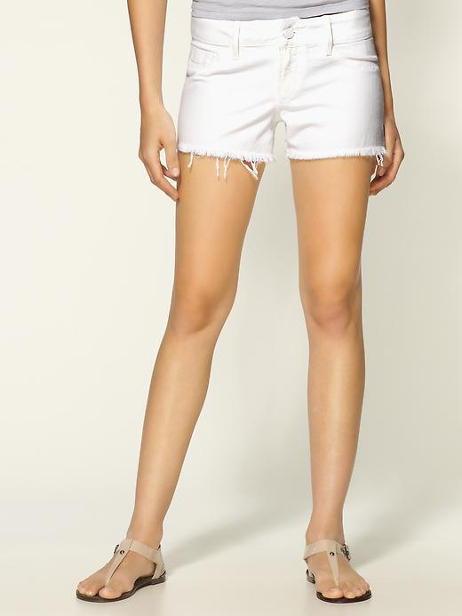 Black Orchid Black Star White Cut-Off Shorts