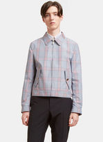 Thom Browne Men's Gingham Checked Jacket In Navy And Red