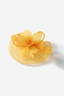 Wallis Yellow Large Flower Clip Fascinator