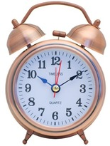 Bell Table Clock Colour: Brass