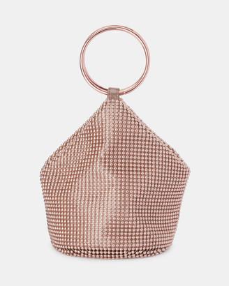 Olga Berg Bianca Ball Mesh Handle Bag