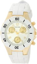 Vernier Women's VNR6052WHT Round Silicon Strap Quartz Watch