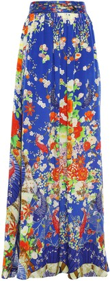 Camilla Crystal-embellished Printed Silk Crepe De Chine Maxi Skirt