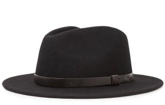 Brixton Messer Fedora Black/Black Large
