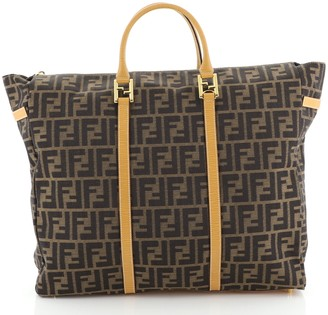 Fendi Vintage Zip Travel Tote Zucca Canvas Large