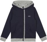 BOSS Logo trim cotton hoody 4-16 years