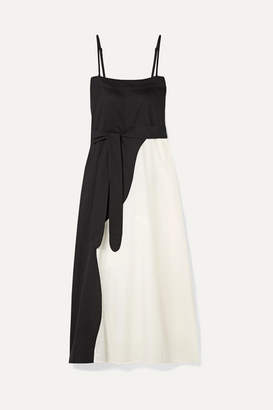 Mara Hoffman + Net Sustain Philomena Two-tone Organic Cotton-voile Maxi Dress - Black