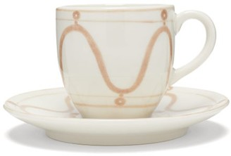 Themis Z - Serenity Porcelain Espresso Cup And Saucer - Beige White