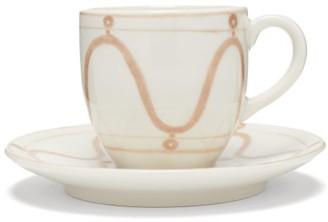 Themis Z - Serenity Swirl Porcelain Espresso Cup - Beige White
