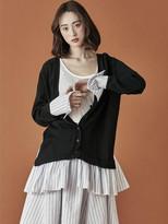 Sailor Stripe Shirring Cardigan