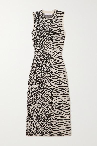 Proenza Schouler White Label - Jacquard-knit Midi Dress - Ecru
