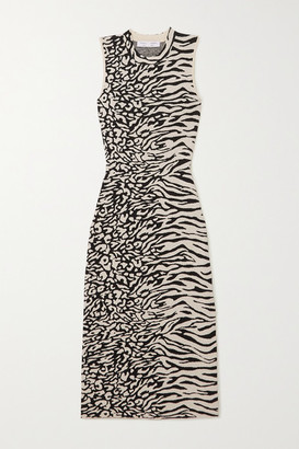Proenza Schouler White Label Jacquard-knit Midi Dress - Ecru