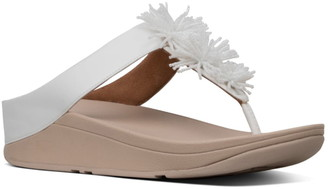 FitFlop Fino Bead Pompom Wedge Sandal