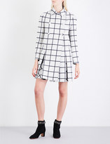 Valentino Check-pattern double-breasted wool coat