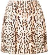 ADAM by Adam Lippes Ocelot Printed Wrap Mini Skirt