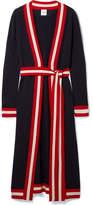 Madeleine Thompson Ibis Striped Cashmere Cardigan - Navy