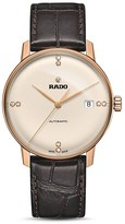Rado Coupole Classic Automatic Rose Gold PVD Watch with Diamonds, 38mm
