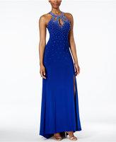 Night Way Nightway Embellished Halter Gown