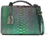 Mark Cross Grace Small Metallic Python Shoulder Bag - Green