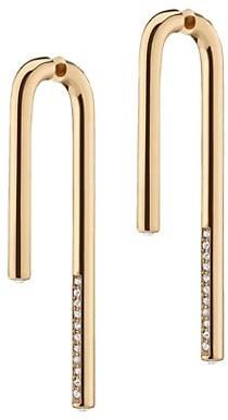 DEMARSON Celeste 12K Goldplated & Swarovski Crystal Drop Earrings