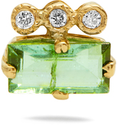 Jacquie Aiche Diamond, tourmaline & yellow-gold earring