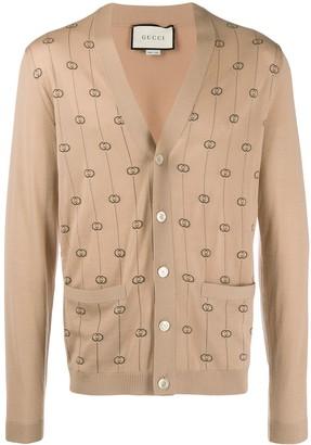 Gucci double G jacquard cardigan