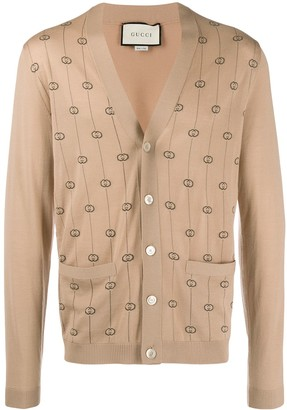 Gucci double G jacquard cardigan