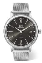 IWC SCHAFFHAUSEN Portofino Automatic 37 Stainless Steel And Diamond Watch - Silver