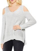 Vince Camuto Cold-shoulder V-Neck Sweater