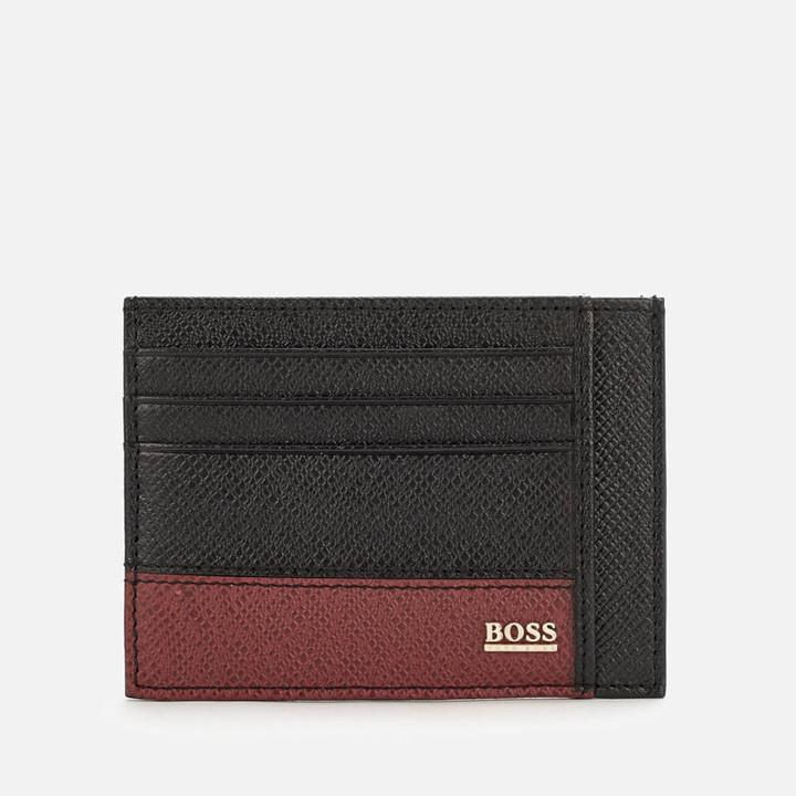 HUGO BOSS Men's Signature Card Holder - Black