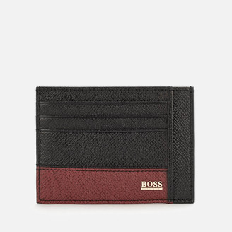 HUGO BOSS Men's Signature Card Holder - Black