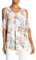 Fifteen-Twenty Fifteen Twenty Floral Cold Shoulder Blouse