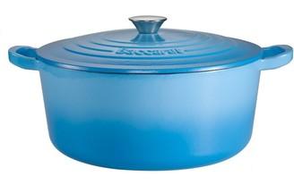 Baccarat Le Connoisseur Limited Edition Cast Iron Round French Oven 29cm /6.3L Blue