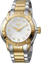 Ferré Milano Women's FM1L039M0091 Silver Dial with Two Toned Stainless-Steel Band Watch.