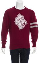 Michael Bastian Lion Print Cashmere Sweater w/ Tags