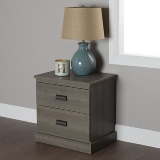 South Shore Gloria 2 Drawer Nightstand Color: Gray Maple