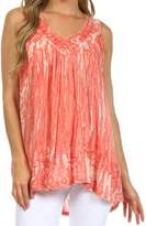 Sakkas 62531 Boho Love Sleeveless Blouse