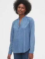 Gap Denim Popover Shirt in TENCEL