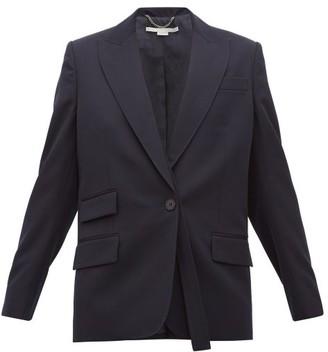 Stella McCartney Single Breasted Wool Twill Blazer - Womens - Navy