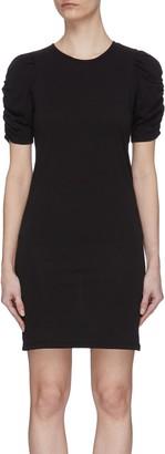Frame Gathered Sleeve Dress