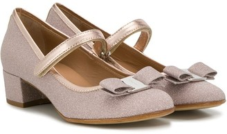Salvatore Ferragamo Kids bow detail mary jane shoes