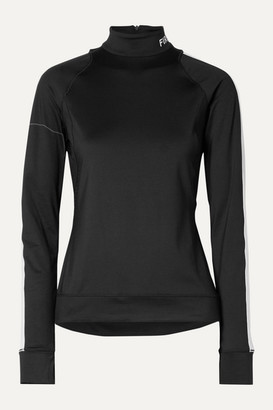 Bogner Fire & Ice BOGNER BOGNER FIREICE - Dunja Laser-cut Striped Stretch-jersey Base Layer - Black